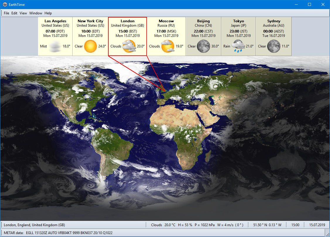 EarthTime screenshot