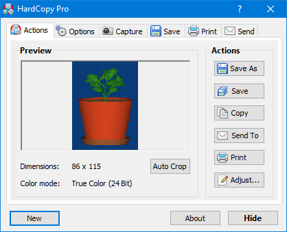 HardCopy Pro is the professional, easy to use screen capture tool!